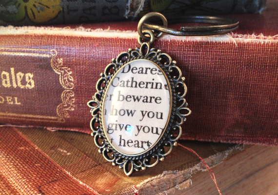 10 freaking awesome gifts for ya book lovers that you might just this cute etsy store has necklaces one of which i will be giving away rings bracelets and keyrings that feature words from famous books solutioingenieria Choice Image